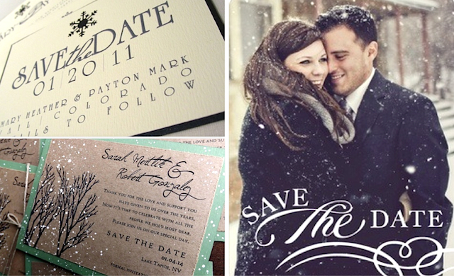 Winter Wedding Save the Dates Solomon Events – Winter Wedding Save the Dates